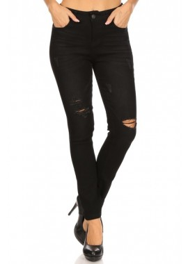 Wholesale Womens Distressed Skinny Denim Jeans