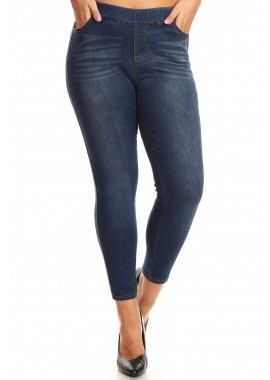Wholesale Womens Plus Size Denim Jeggings Pants