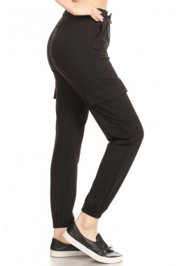 Wholesale Womens Solid Cargo Joggers Sweatpants