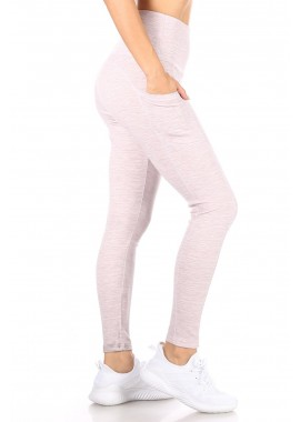 Wholesale Womens Tummy Control Butt Sculpting Sport Leggings With Pockets