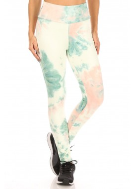 Wholesale Womens High Rise Butt Scrunch Tie Dye Sports Yoga Leggings