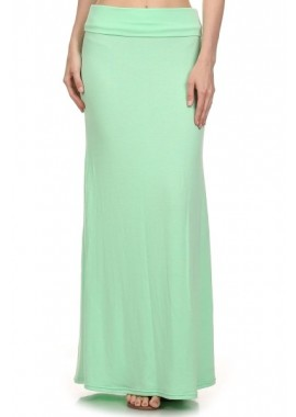 Wholesale Made In USA Womens Basic Solid Colour Maxi Skirt
