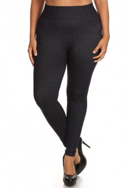 Wholesale Womens Plus Size Extremely Stretchy Seamless Jeggings X6JG08