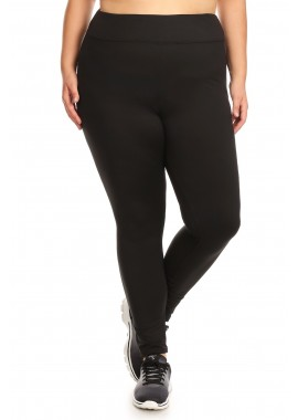 Wholesale Womens Plus Size High Waist Poly Brush Soft Leggings