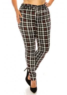 Wholesale Womens Plus Size Treggings Skinny Pants With Self Belt