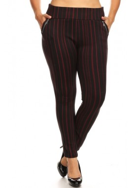 Wholesale Womens Plus Size Treggings Skinny Pants With Zipper Pockets