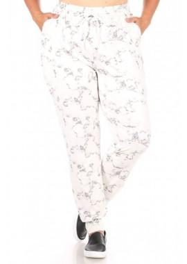 Wholesale Womens Plus Size Soft Brushed Joggers Sweatpants With Shoe Lace Tie