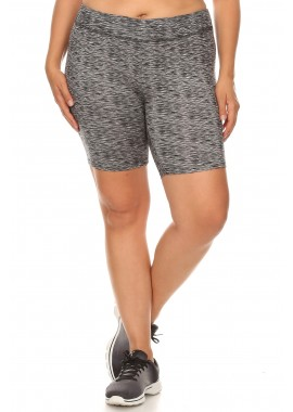 Wholesale Womens Plus Size Soft Brushed Biker Shorts