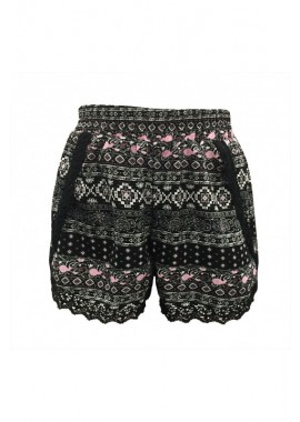 Wholesale Big Kids Overlap Shorts With Lace Trim