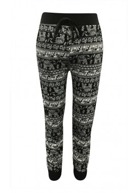 Wholesale Kids Poly Brushed Printed Joggers