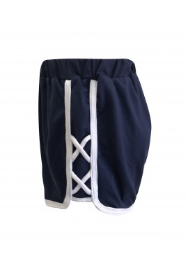 Wholesale Big Kids Soft Brushed Sports Shorts With Side Criss Cross Straps Detail