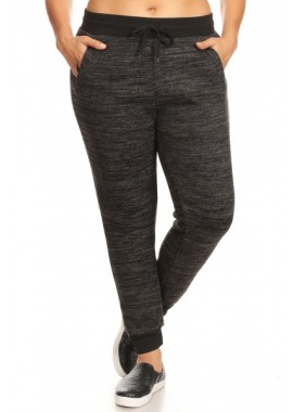 Wholesale Womens Plus Size Fur Lined Joggers Sweatpants
