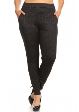 Wholesale Womens Plus Size Skinny Pants With Front Pockets