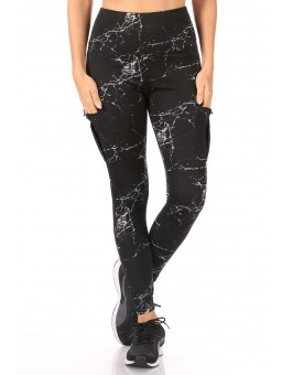 Wholesale Womens High Waist Tummy Control Sports Leggings With Side Cargo Pockets