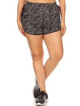 Wholesale Womens Plus Size Shorts With Side Criss Cross Straps