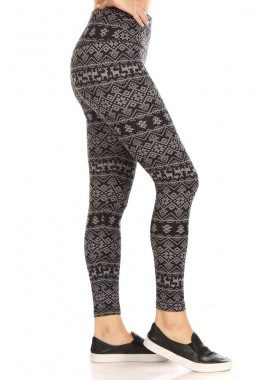 Wholesale Womens High Waist Fleece Lined Leggings