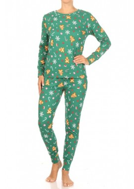 Wholesale Womens 2-Piece Fleece Lined Long Sleeve Tops + Matching Joggers Sweatpants Pajamas Sets