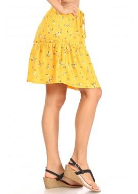 Wholesale Womens Gauzy Knit Ruffled Mini Skirts
