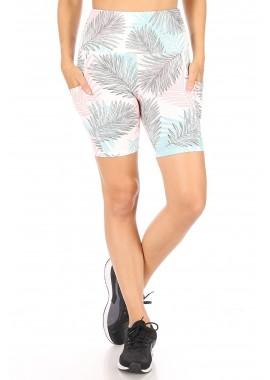 Wholesale Womens High Waist Biker Shorts With Side Pockets
