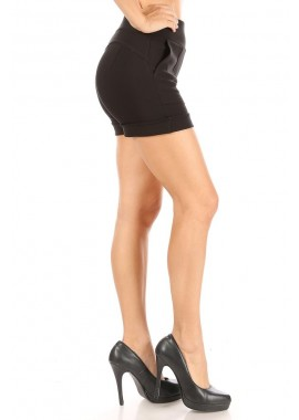 Wholesale Womens High Waist Sculpting Slim Pull On Hot Shorts With Pockets