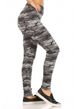 Wholesale Womens High Waist Fleece Lined Halloween Leggings