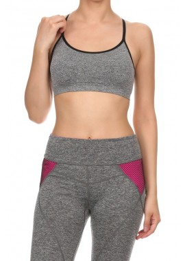 Wholesale Womens Multi Strapped Active Sports Bras Tops 6ABR05CHA