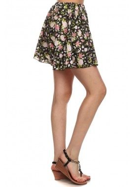 Wholesale Womens Woven Printed Short Skirts