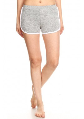 Wholesale Womens Lattice Shorts With Contrast Side Stripes