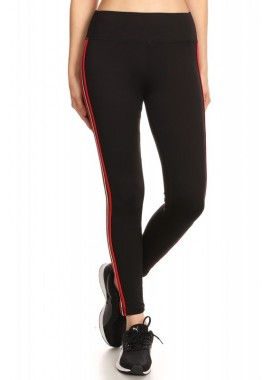 Wholesale Womens Sports Leggings With Side Stripe Taping