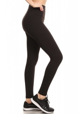 Wholesale Womens High Waist Fleece Lined Ankle Leggings