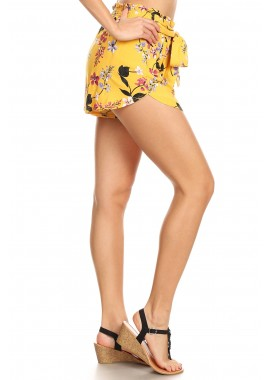 Wholesale Womens Paper Bag Waist Shorts With Sash