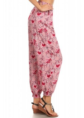 Wholesale Womens Floral Printed Harem Jogger Pants