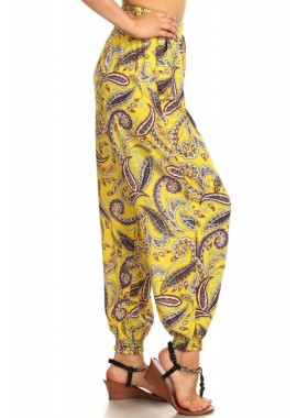 Wholesale Womens Paisley Printed Harem Jogger Pants