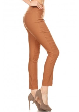 Wholesale Womens High Waist Skinny Millennium Pants With Seaming Detail & Back Faux Welt