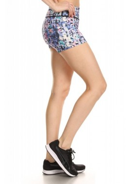 Wholesale Womens Activewear Printed Running Shorts