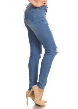 Wholesale Womens Distressed Denim Skinny Jeans