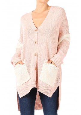 Wholesale Womens Oversized Cardigan Sweaters With Side Slits And High Low Hem