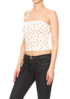 Wholesale Womens Printed Strapless Tube Tops