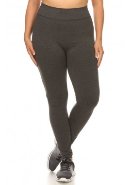 Wholesale Womens Plus Size Slimming Tummy Control Basic High Waist Leggings