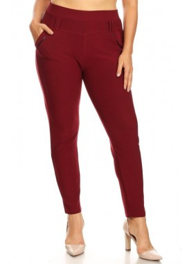 Wholesale Womens Plus Size Fitted Skinny Treggings Pants