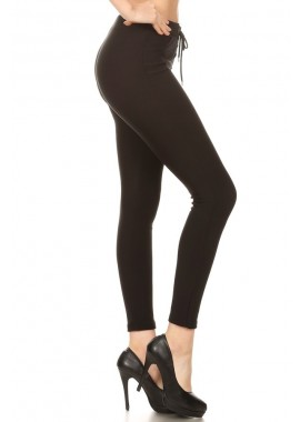 Wholesale Womens Lace Up Treggings Skinny Pants