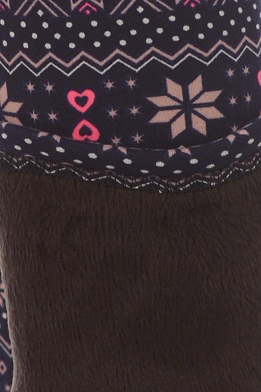 b543287c2849e Wholesale Big Kids Poly Brushed Printed Fur Lined Leggings